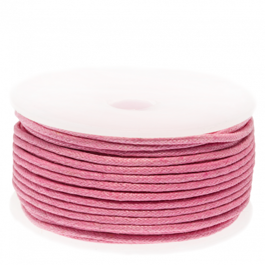 Waxkoord (1.5 mm) Pink (25 Meter)