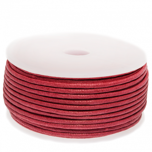 Waxkoord (1.5 mm) Raspberry (25 Meter)