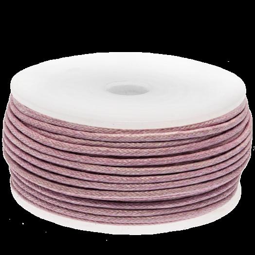 Waxkoord (1.5 mm) Soft Violet (25 Meter)