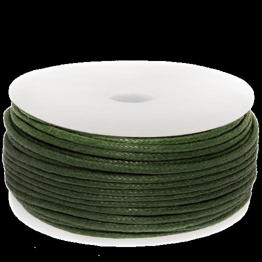 Waxkoord (1.5 mm) Crocodile Green (25 Meter)