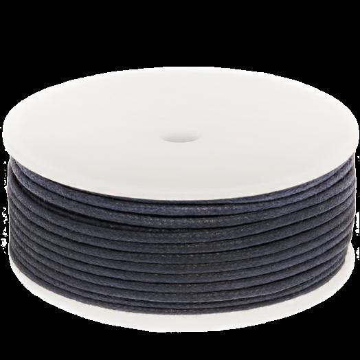 Waxkoord (2 mm) Dark Blueberry (25 Meter)