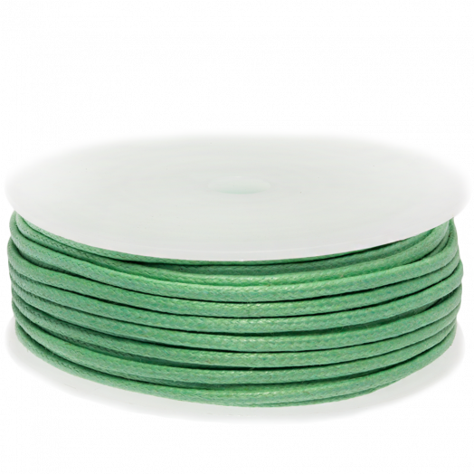 Waxkoord (2 mm) Bright Mint Green (25 Meter)