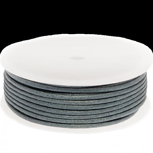 Waxkoord (2 mm) Stone Blue Grey (25 Meter)