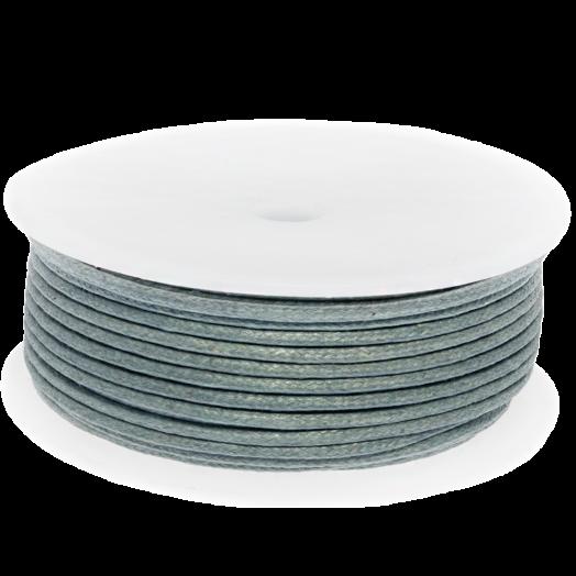 Waxkoord (2 mm) Stone Grey (25 Meter)