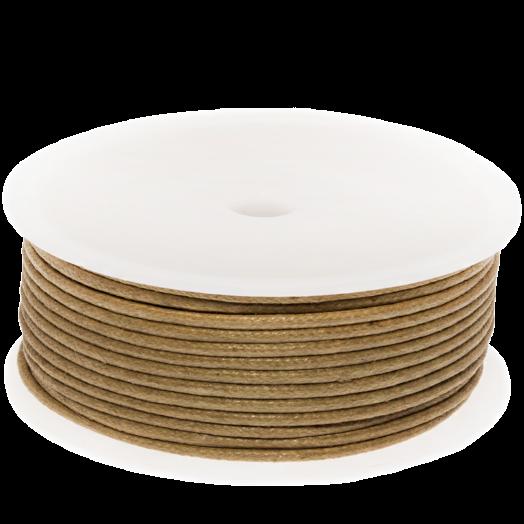 Waxkoord (2 mm) Gold Brown (25 Meter)