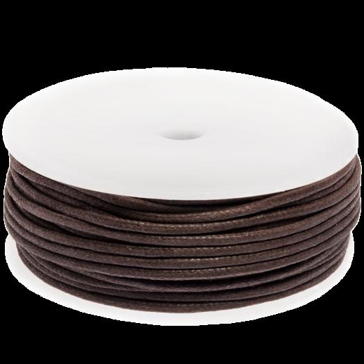 Waxkoord (2 mm) Brown (25 Meter)