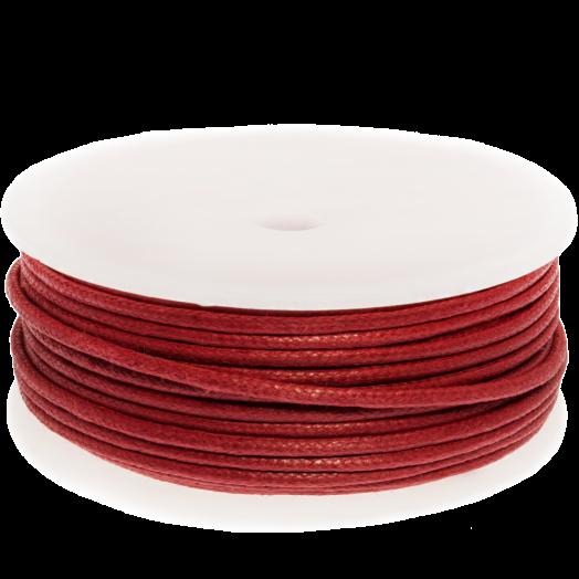 Waxkoord (2 mm) Red (25 Meter)