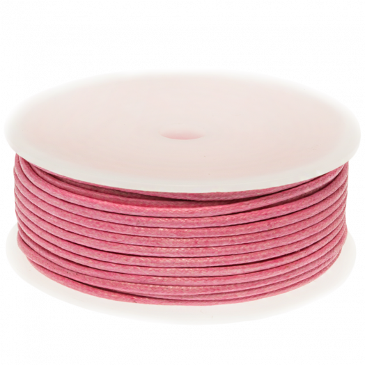 Waxkoord (2 mm) Pink (25 Meter)