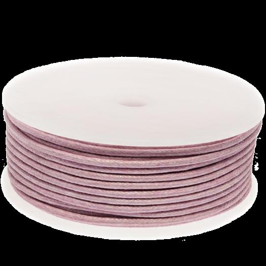 Waxkoord (2 mm) Soft Violet (25 Meter)
