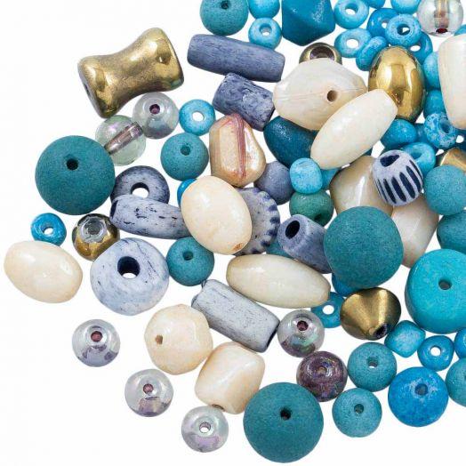 Voordeelpakket - glaskralen (Diverse maten) Mix Color (50 Gram)