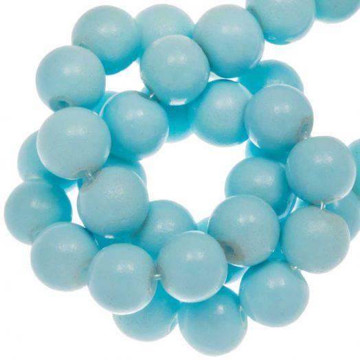 Glaskralen (10 mm) Soft Blue (21 Stuks)