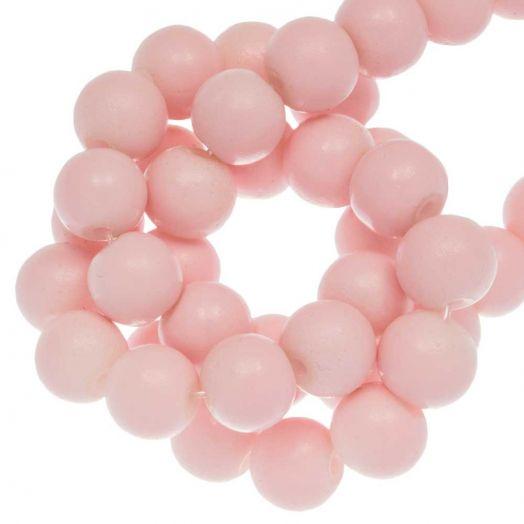Glaskralen (8 mm) Soft Pink (26 Stuks)