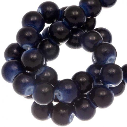 Glaskralen (6 mm) Dark Blue (36 Stuks)