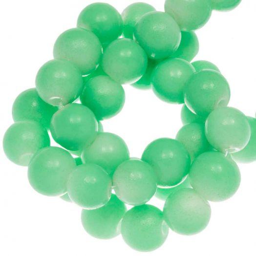 Glaskralen (10 mm) Bright Mint Green (21 Stuks)