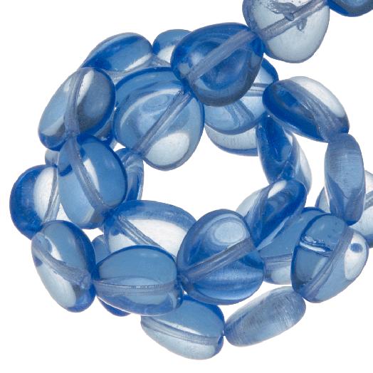 DQ Glaskralen Hartjes (6 mm) Transparent Blue (50 Stuks)