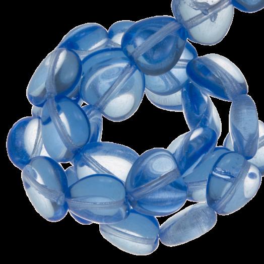 DQ Glaskralen Hartjes (8 mm) Transparent Blue (50 Stuks)