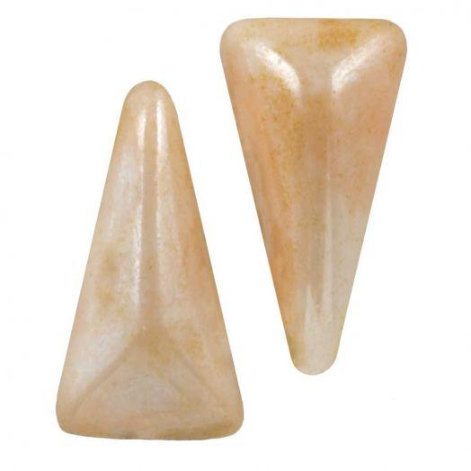 Vexolo® DQ Glaskralen (5 x 8 mm) Alabaster Cream (20 stuks)