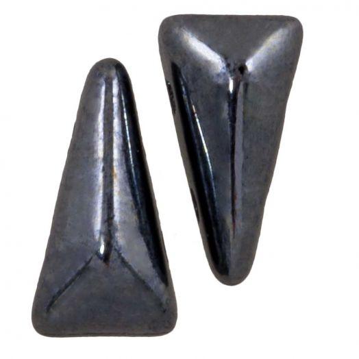Vexolo® DQ Glaskralen (5 x 8 mm) Hematite (20 stuks)