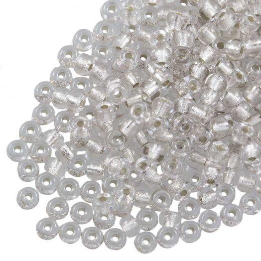 DQ Rocailles (2 mm) Centered Silver (10 Gram / 1000 stuks)