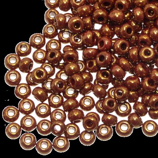 DQ Rocailles (2 mm) Shine Golden Red (10 Gram / 1000 stuks)