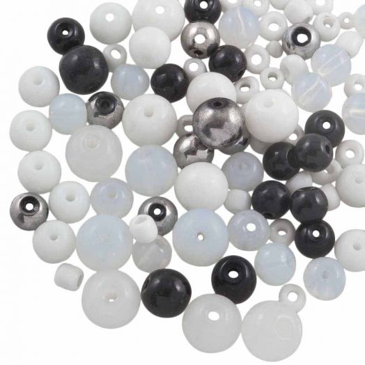 Voordeelpakket - glaskralen (Diverse maten) Mix Color (100 Gram)