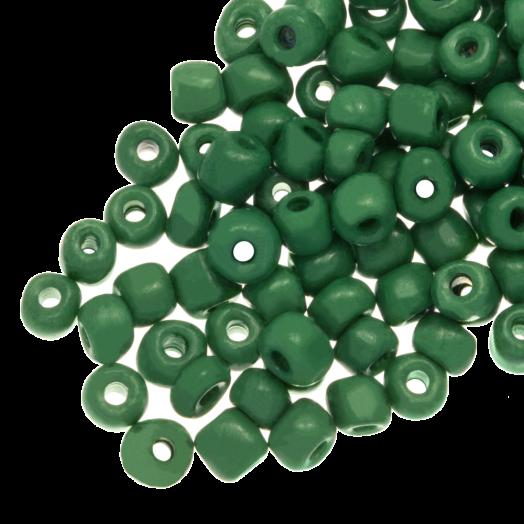 Rocailles (4 mm) Marble Emerald Green (100 Gram)