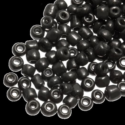 Rocailles (3 mm) Dark Grey (50 Gram)