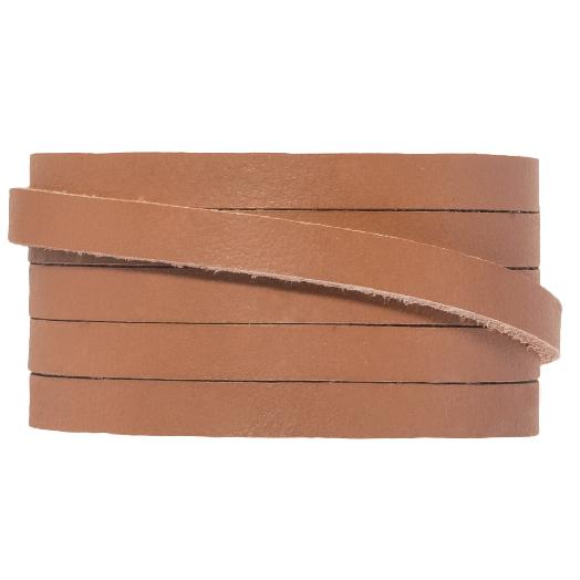 DQ Plat Leer (5 x 2 mm) Tawny (1 Meter)
