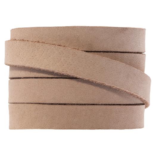DQ Plat Leer (10 x 2 mm) Cream Brown (1 Meter)