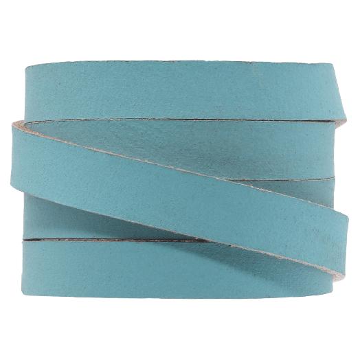 DQ Plat Leer (10 x 2 mm) Sapphire Metallic (1 Meter)