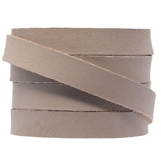 DQ Plat Leer (10 x 2 mm) Taupe (1 Meter)