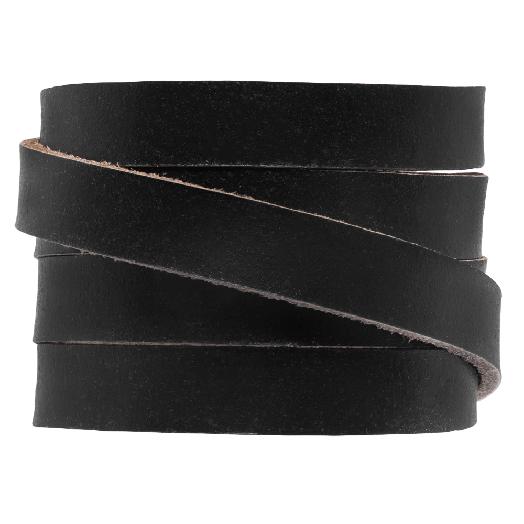 DQ Plat Leer (10 x 2 mm) Black (1 Meter)