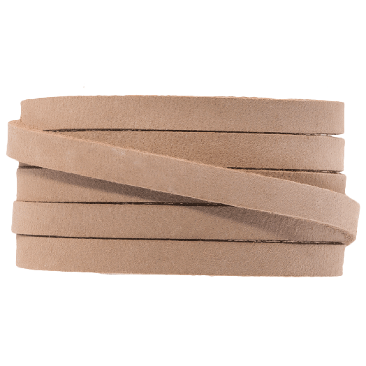 DQ Plat Leer (5 x 2 mm) Cream Brown (1 Meter)