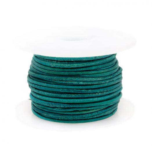 DQ leer Vintage (1 mm) Turquoise (10 Meter)