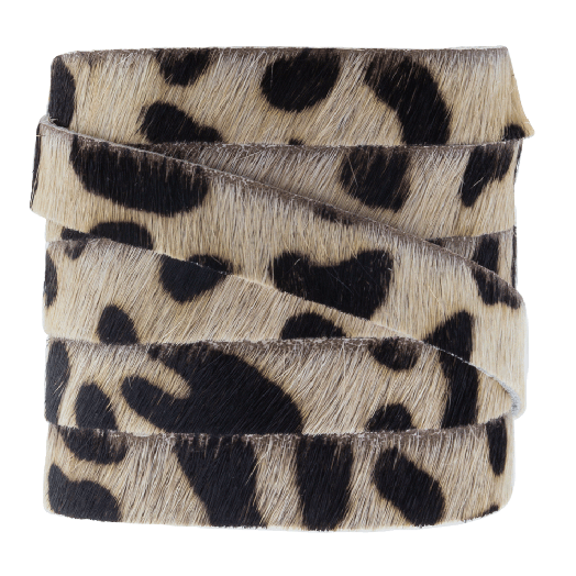 DQ Plat Leer Safari (10 x 2 mm) Leopard Light Brown Print (1 meter)