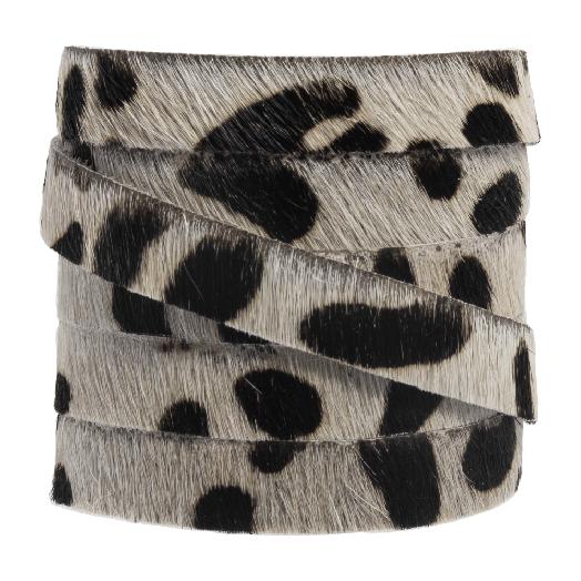 DQ Plat Leer Safari (10 x 2 mm) Leopard Off white Print (1 meter)
