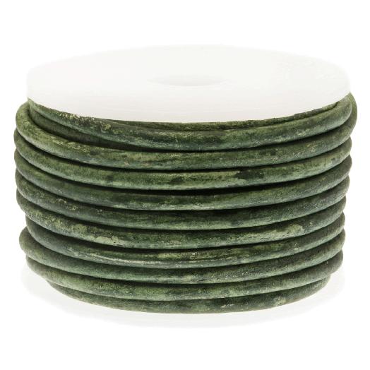 DQ Leer Two Tone (2 mm) Crocodile Green (5 Meter)