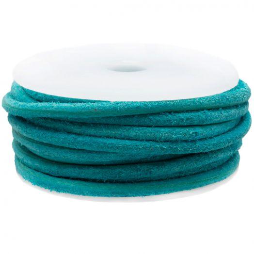 DQ leer Vintage (3 mm) Turquoise (5 Meter)