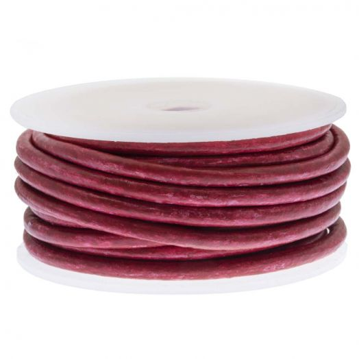 DQ Leer Two Tone (3 mm) Red Wine (5 Meter)