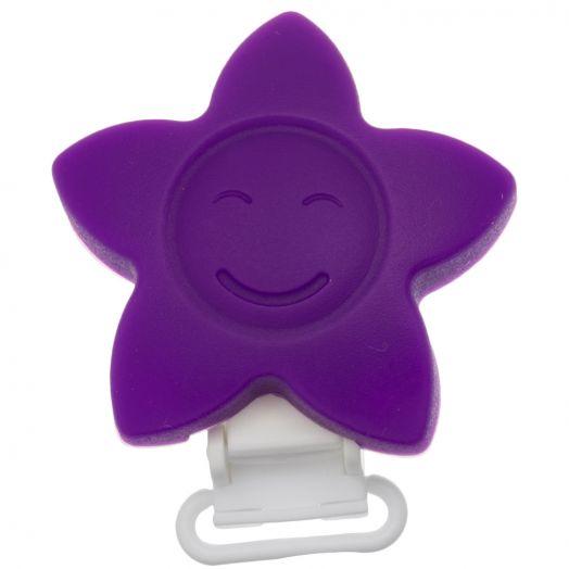 Siliconen Clip Ster (62 mm) Purple (1 Stuks)