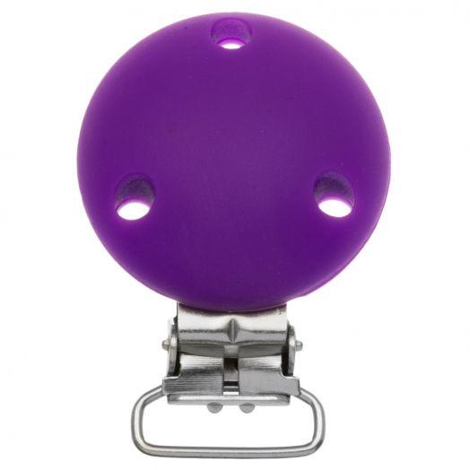 Siliconen Clip Cirkel (50 mm) Purple (1 Stuks)