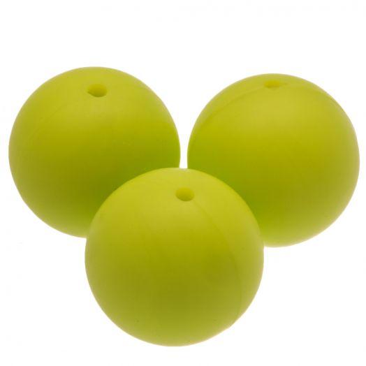 Siliconen Kralen (18 mm) Lime (5 Stuks)