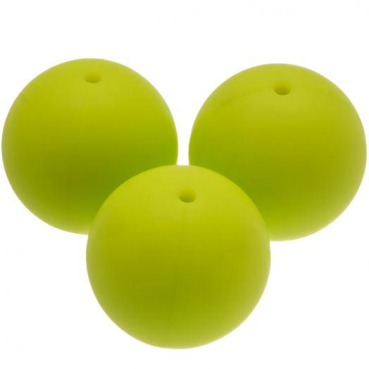 Siliconen Kralen (20 mm) Lime (4 Stuks)