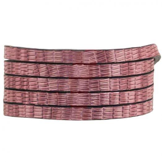 Plat Koord (5 x 2 mm) Metallic Pink (1 Meter)