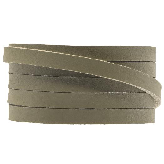 DQ Plat Leer (5 x 2 mm) Olive green (1 Meter)
