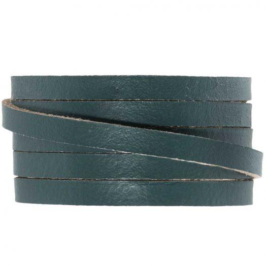 DQ Plat Leer (5 x 2 mm) Grey Green (1 Meter)