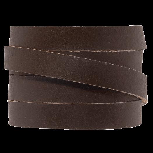 DQ Plat Leer (10 x 2 mm) Dark Brown (1 Meter)
