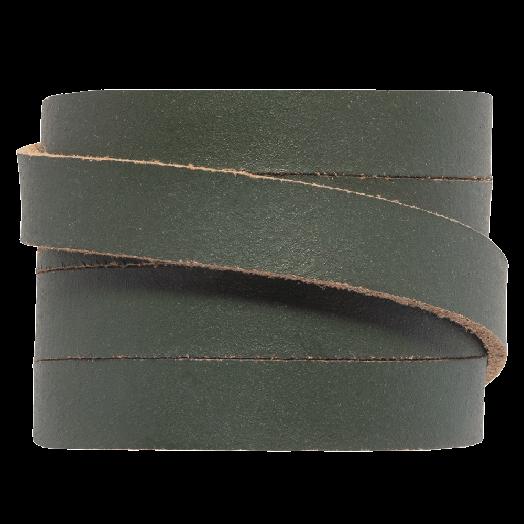 DQ Plat Leer (10 x 2 mm) Pine Green (1 Meter)