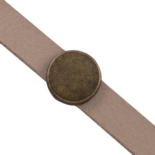 Schuiver (Binnenmaat 5 x 2 mm) Brons (10 Stuks)