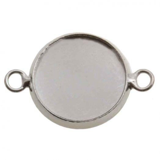 Setting 2 Ogen (12 mm) Antiek Zilver (5 Stuks)